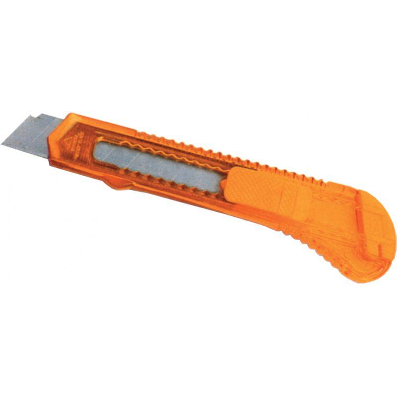 Нож канцелярский большой, лезвие 18 мм,