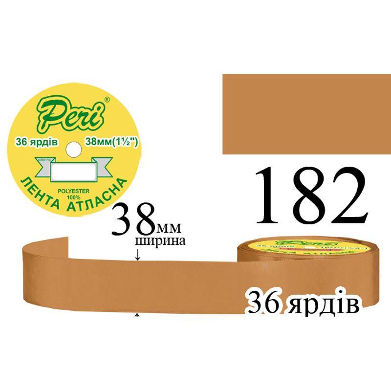Лента атласная, полиэстер, ширина 38 мм., длина 36 ярдов, 5/150 катушек в ящике, цвет 182