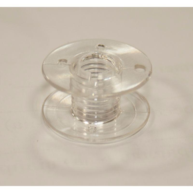 Шпулька для бытовых машин пластиковая Д=21мм, В=10 мм, CB, прозрачная