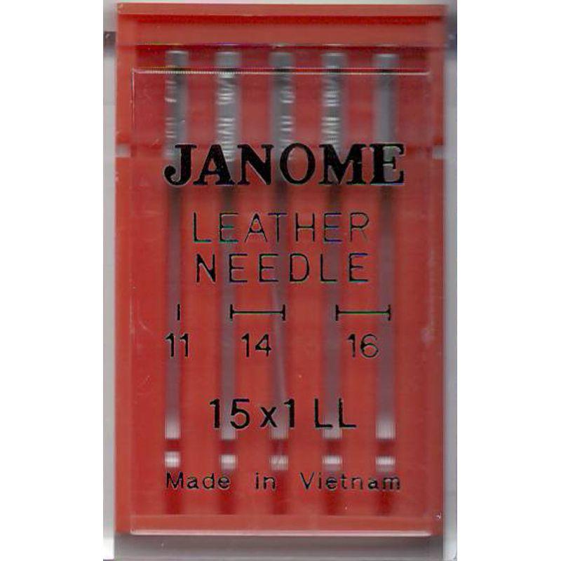 Иглы для кожи №MIX, JM (130x705H, 15x1 LL): 75/11(1); 90/14(2); 100/16(2) 1 уп.=5 шт.
