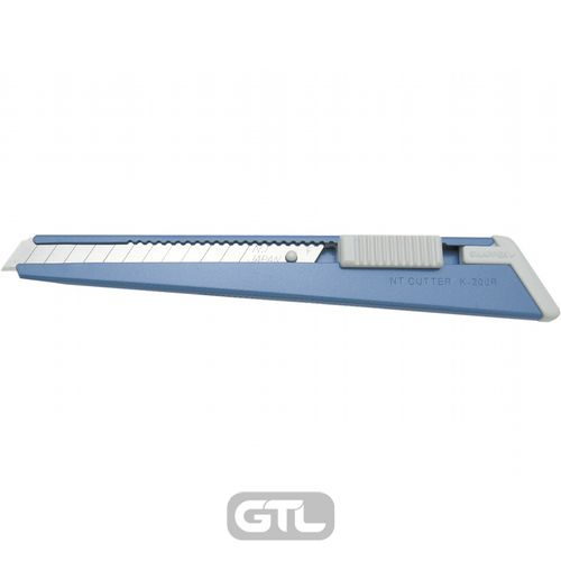 Нож канцелярский малый, лезвие 9 мм, металлические направляющие, металлический корпус, АВТОLOCK, угол лезвия 58 градусов