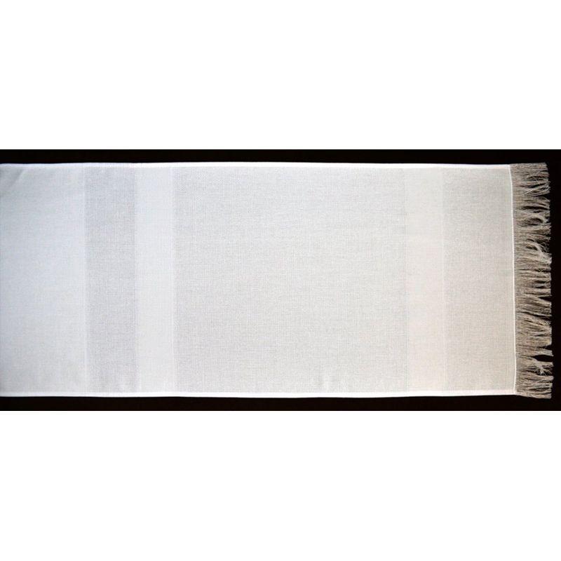 Полотенце с сотканными вставками под вышивку, 335х1750мм, состав 67% ПЭ, 33% хлопок