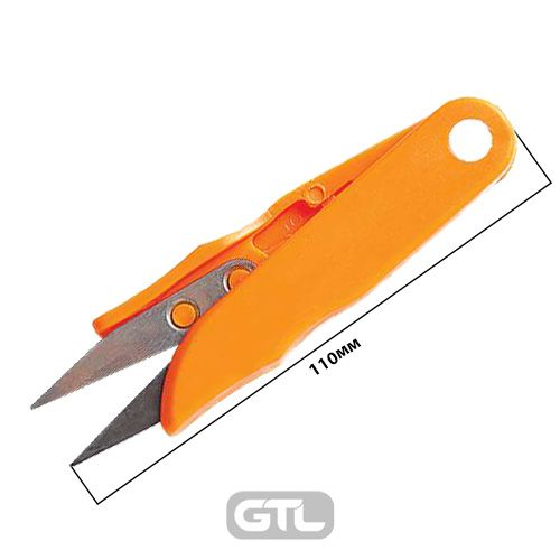 Ножницы для подрезки нитей, 110мм, пластик / металл