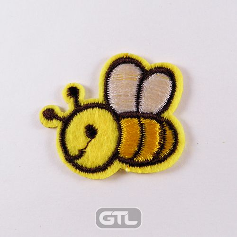 Нашивка патч, термоклеевая, 30мм х 36мм, (Пчелка)