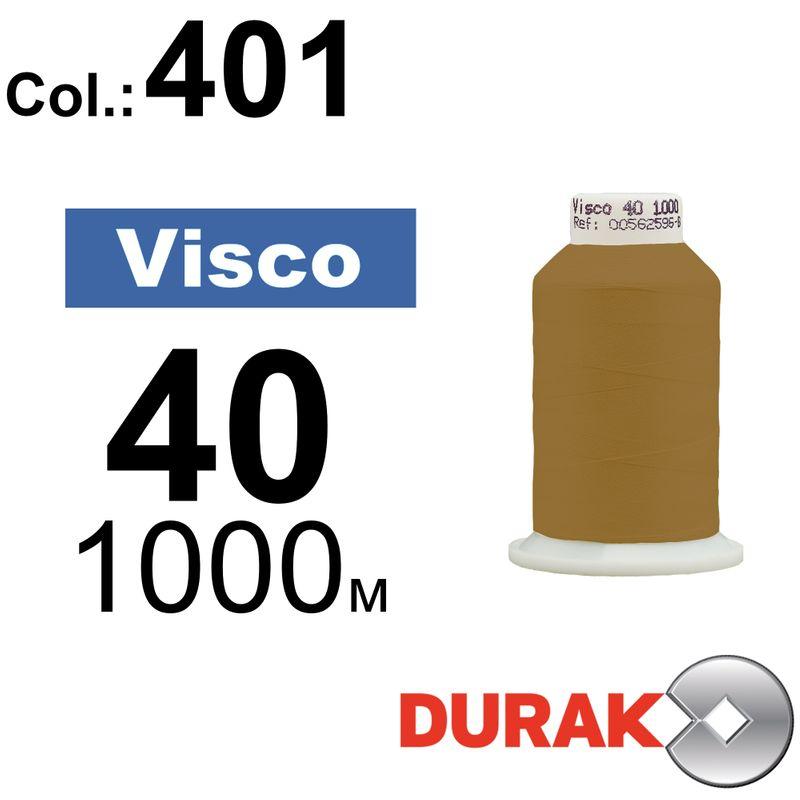 Нитки для машинной вышивки, Visco, вискоза, N40 (120D/2), длина 1000 м., цвет (401) к2