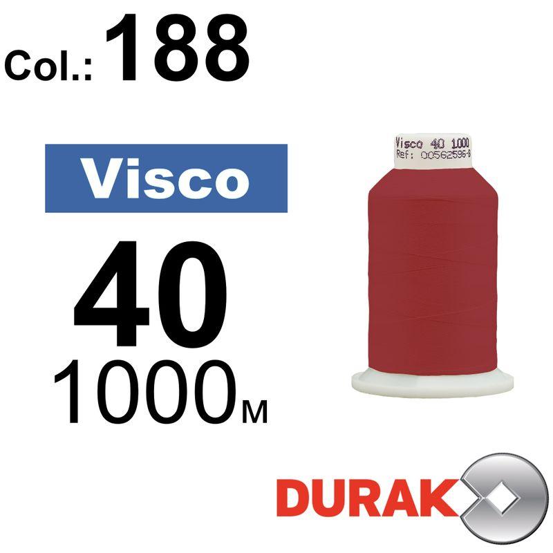 Нитки для машинной вышивки, Visco, вискоза, N40 (120D/2), длина 1000 м., цвет (188) к3