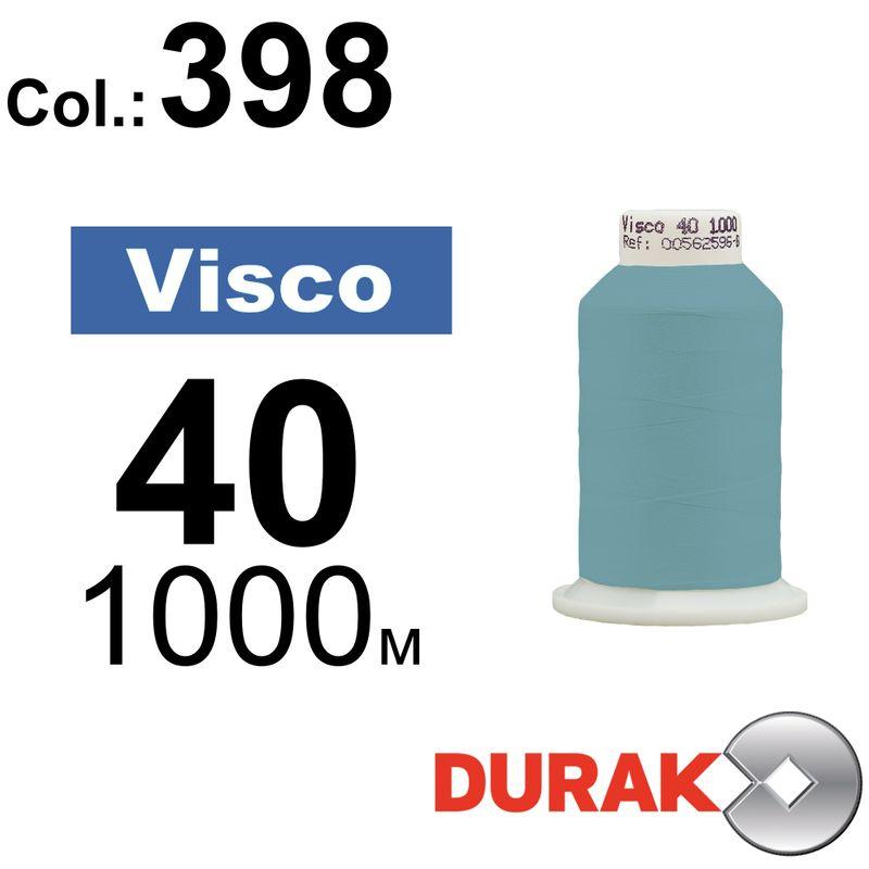 Нитки для машинной вышивки, Visco, вискоза, N40 (120D/2), длина 1000 м., цвет (398) к6