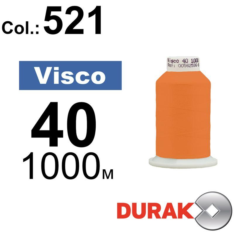 Нитки для машинной вышивки, Visco, вискоза, N40 (120D/2), длина 1000 м., цвет (521) к7