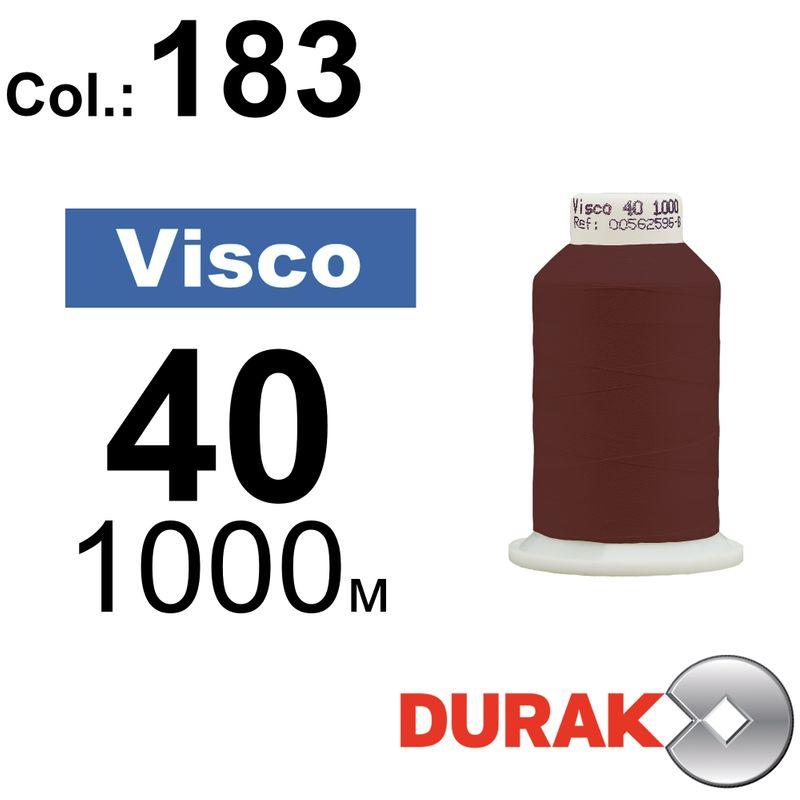 Нитки для машинной вышивки, Visco, вискоза, N40 (120D/2), длина 1000 м., цвет (183) к11