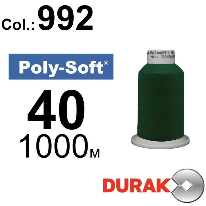 Нитки для машинної вишивки, Poly-Soft, поліестер, N40 (120D/2), довжина 1000 м., колір (992) к8