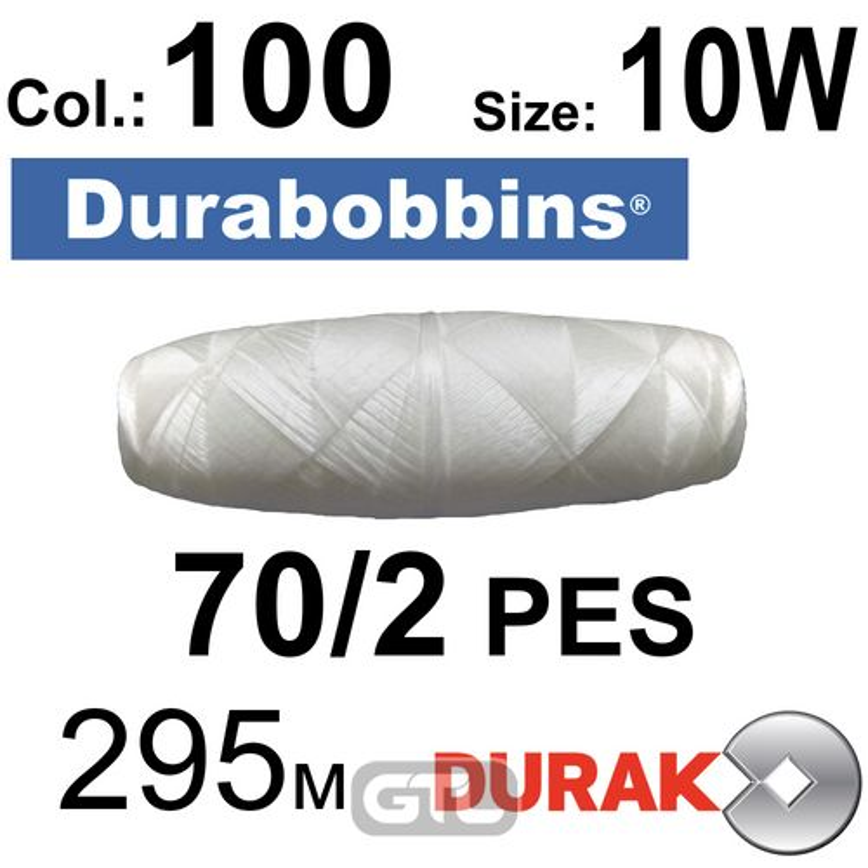 Нити сверхпрочные, Durabobbins, полиэстер, N70 / 2 (16 tex), Size-10W длина 295м. , Цвет 01 (100) -566