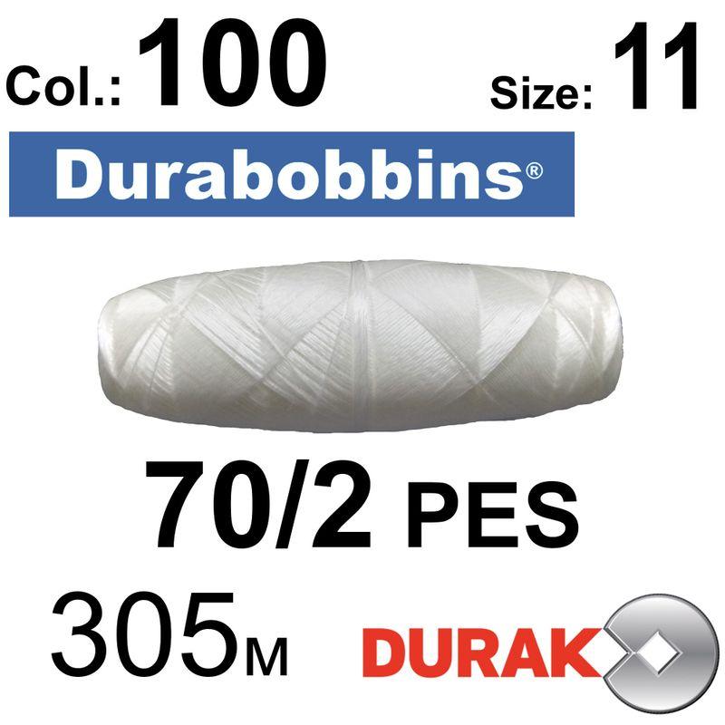 Нити сверхпрочные, Durabobbins, полиэстер, N70 / 2 (16 tex), Size-11 длина 305м. , Цвет 01 (100) -566