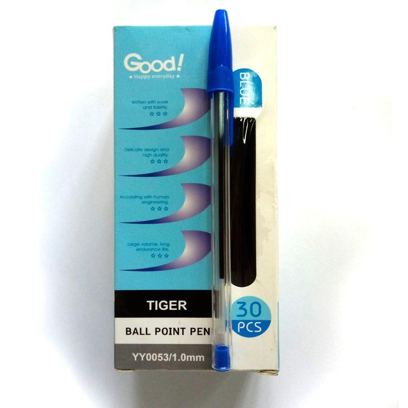 Шариковая ручка синяя TIGER уп. 30шт