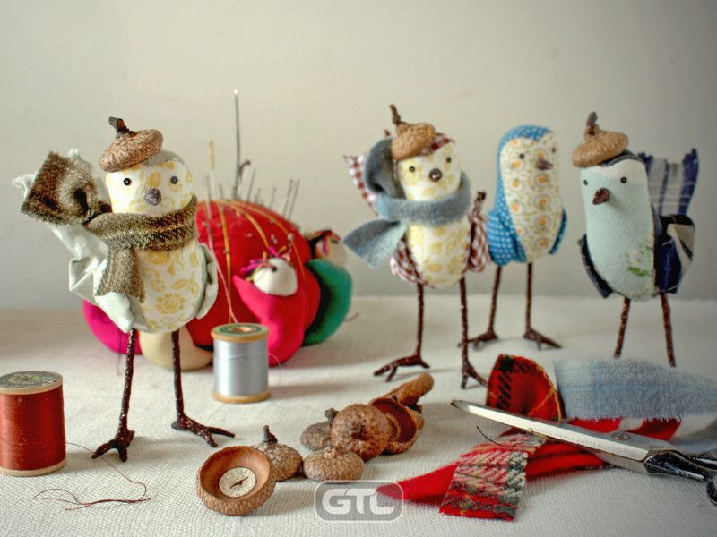 Птицы из ткани