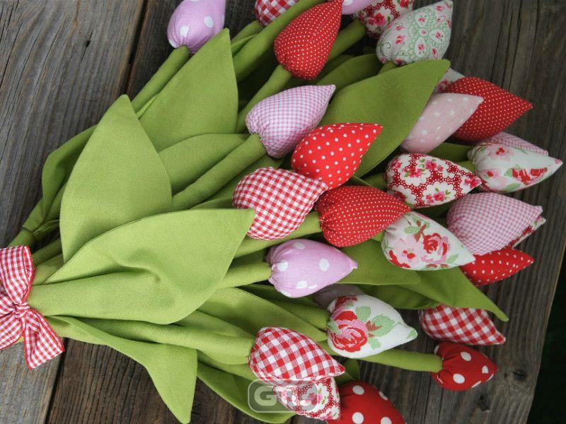 Как сшить тюльпаны из ткани