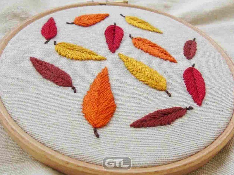 Нитки для осенней вышивки