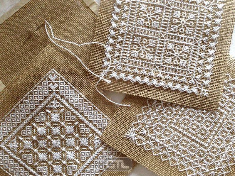 Белые нитки для вышивки