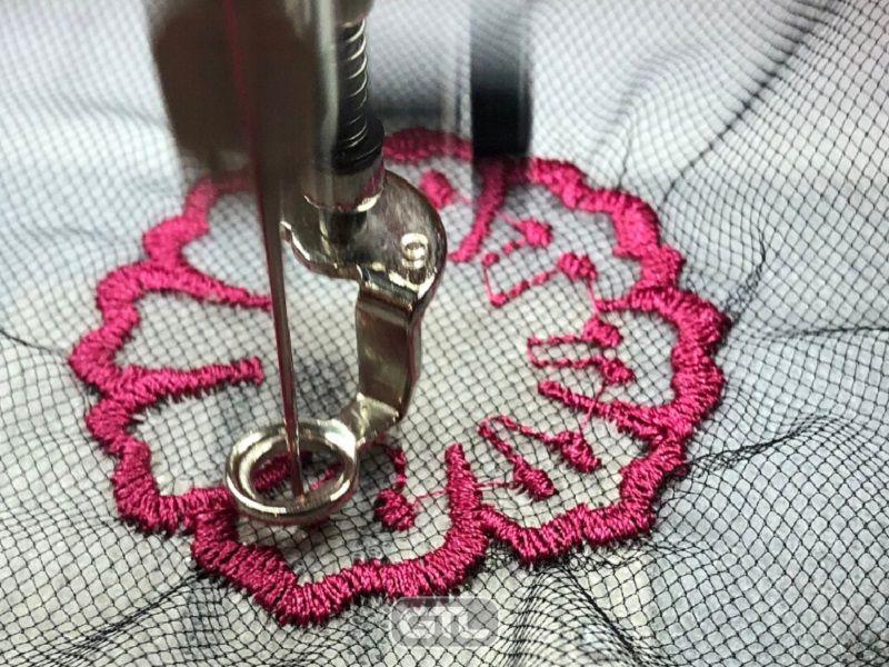 Как вышивать на тюле