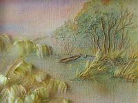Картины, вышитые лентами