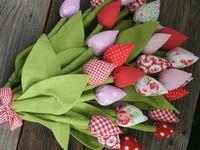 Як зшити тюльпани з тканини