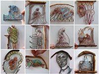 Ажурні мініатюри з ниток