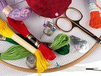 Материалы и инструменты для вышивки