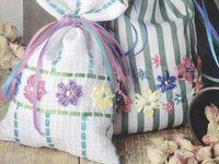 Ленты для вышивки мешочка-саше