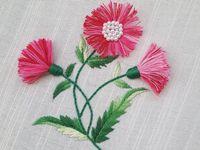 Летняя вышивка - цветочные мотивы
