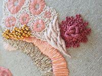 Нитки для абстрактной вышивки