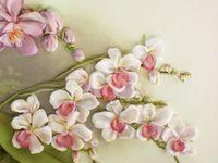 Орхідея - вишивка стрічками