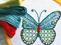 Різнокольорові нитки для вишивки