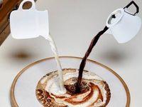 Нитки цвета кофе