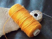 Какими нитками шить кожаные изделия